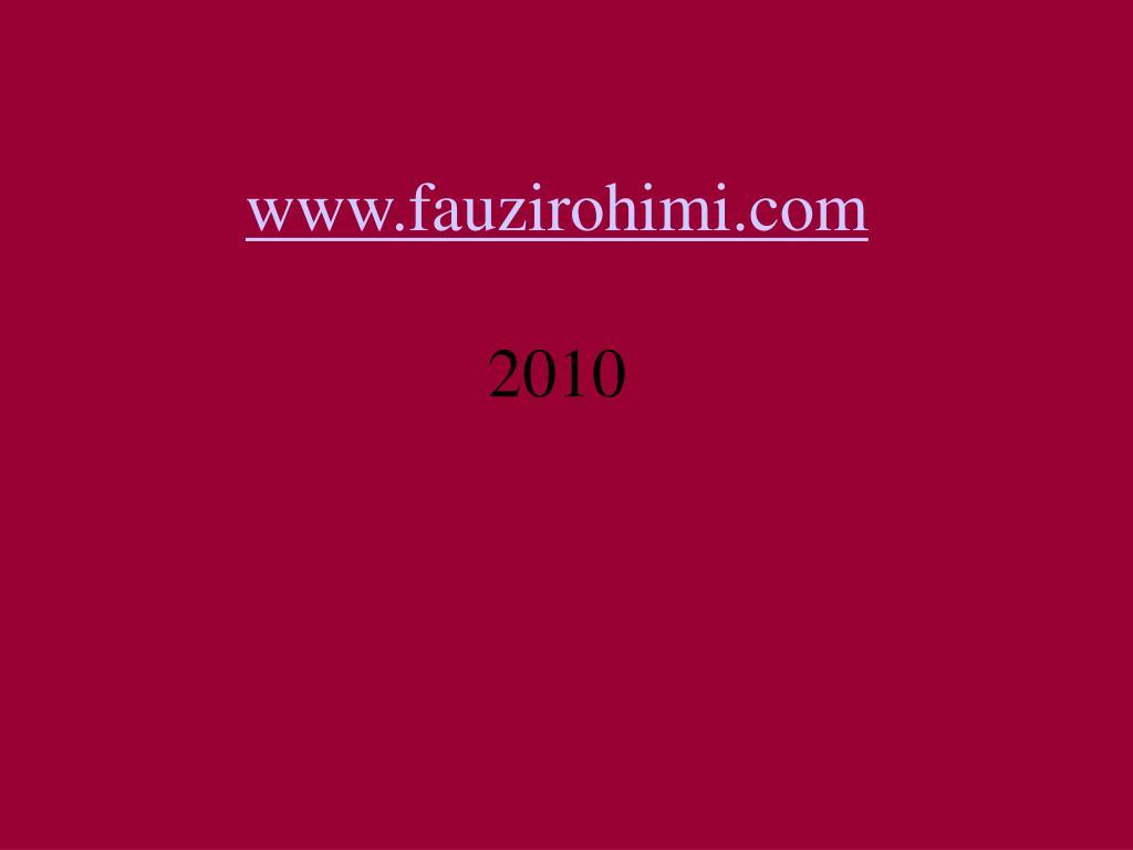 www.fauzirohimi.com