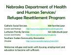 nebraska department of health and human services refugee resettlement program