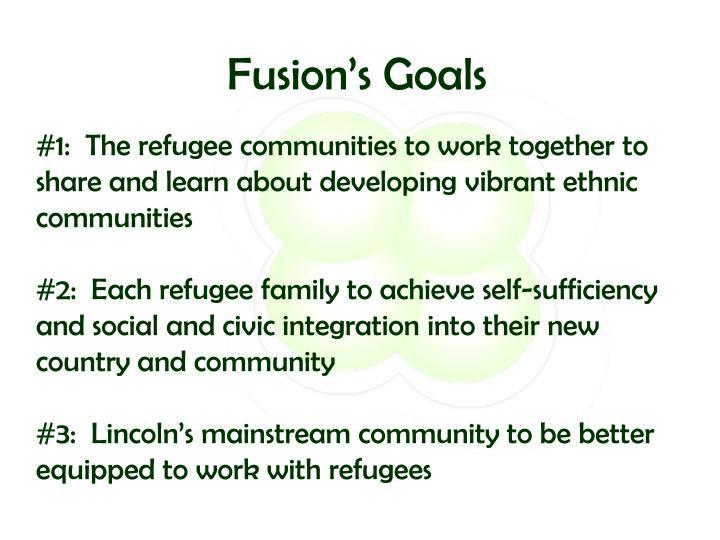 Fusion's Goals