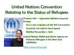 united nations convention relating to the status of refugees