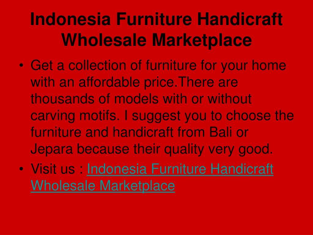 Indonesia Furniture Handicraft Wholesale Marketplace