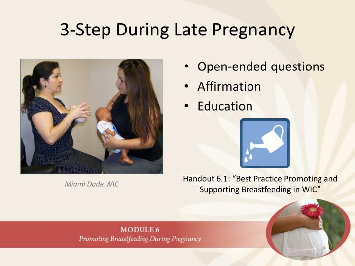 3-Step During Late Pregnancy