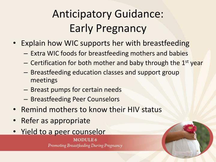 Anticipatory Guidance: