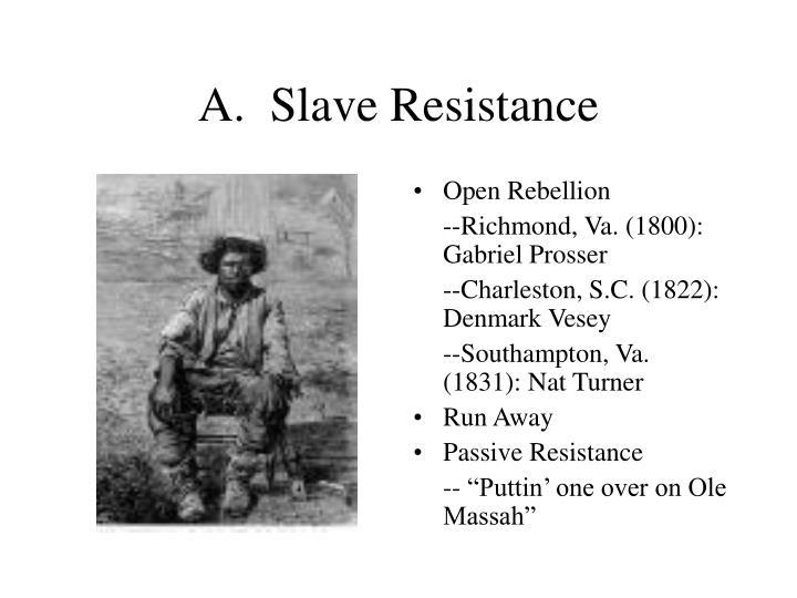 A.  Slave Resistance