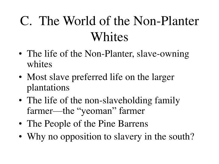 C.  The World of the Non-Planter Whites