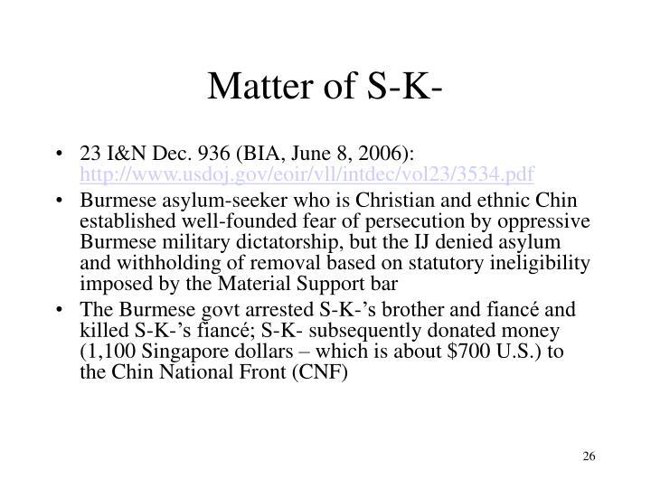 Matter of S-K-