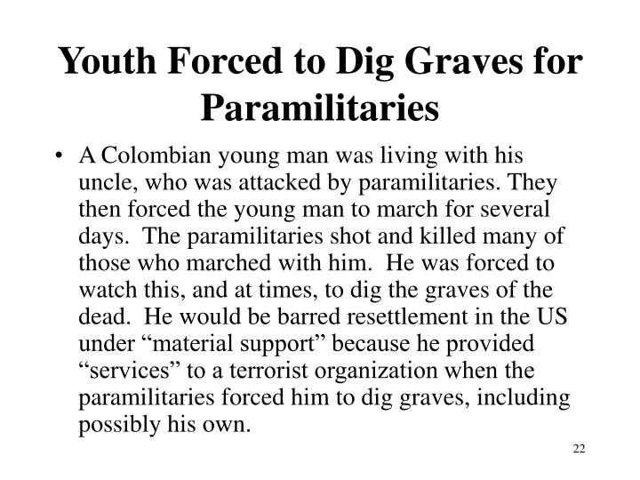 Youth Forced to Dig Graves for Paramilitaries