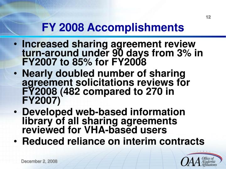 FY 2008 Accomplishments
