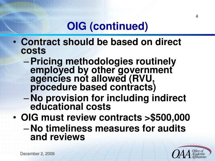 OIG (continued)