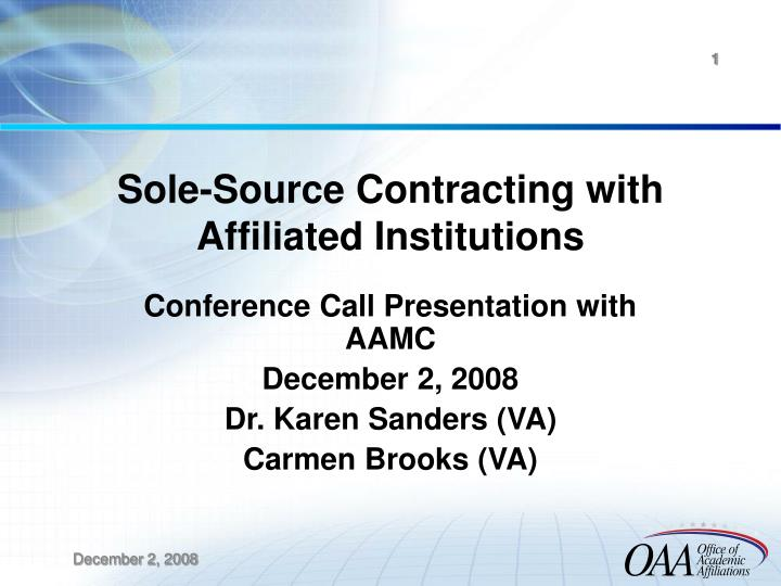 Sole source contracting with affiliated institutions