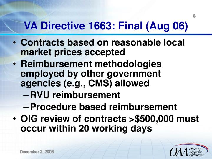 VA Directive 1663: Final (Aug 06)