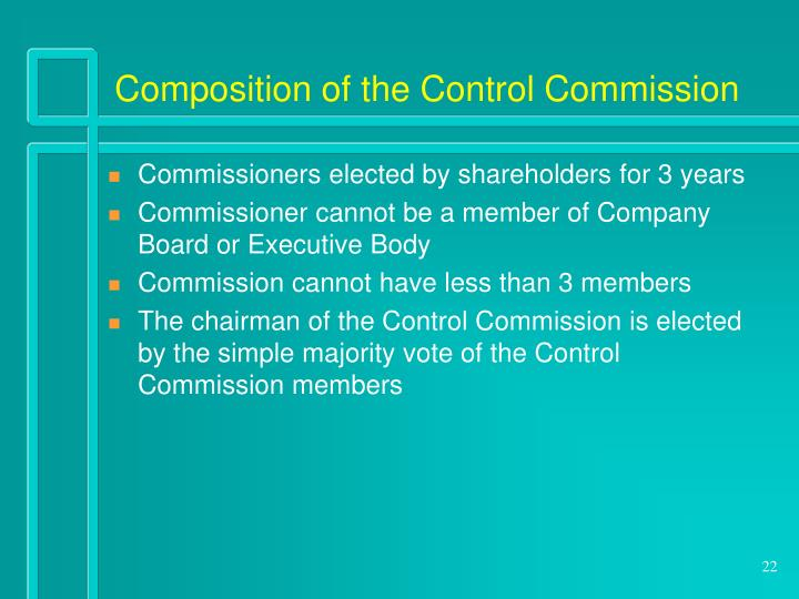 Composition of the Control Commission