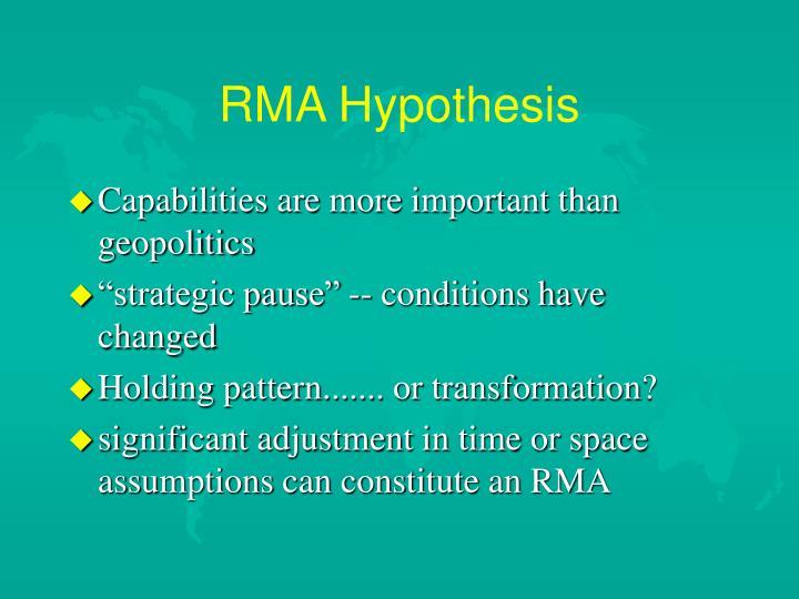 RMA Hypothesis