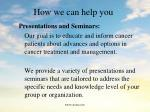 how we can help you132