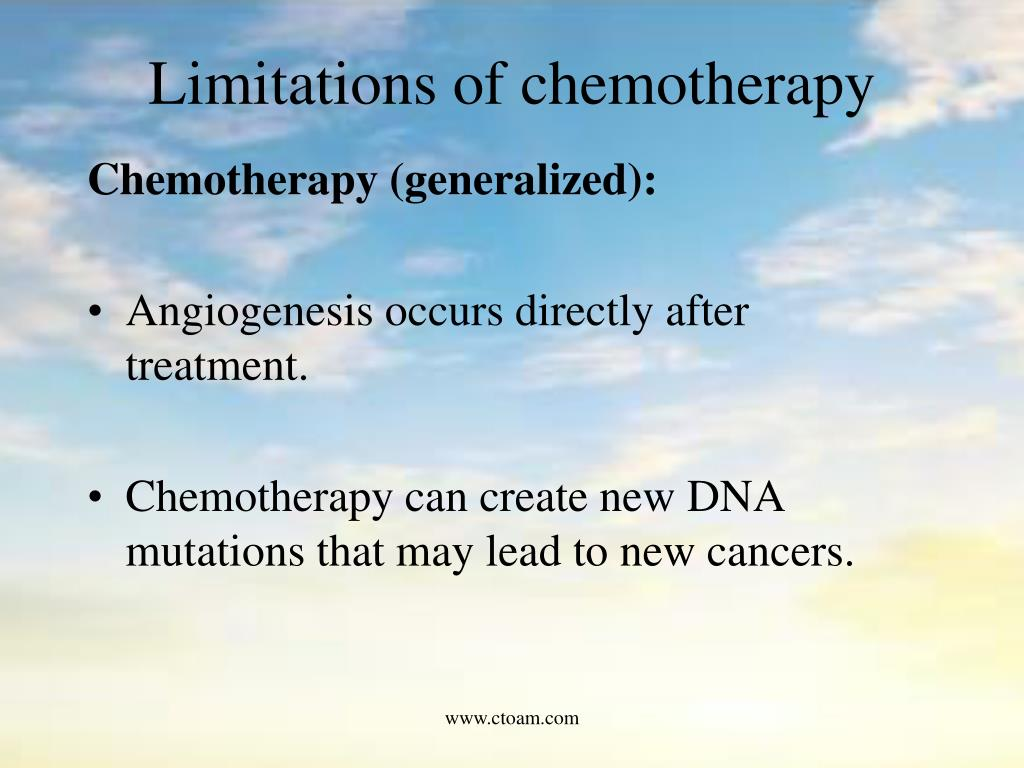 Limitations of chemotherapy