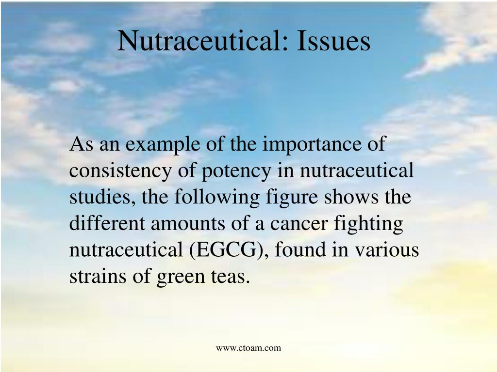 Nutraceutical: Issues