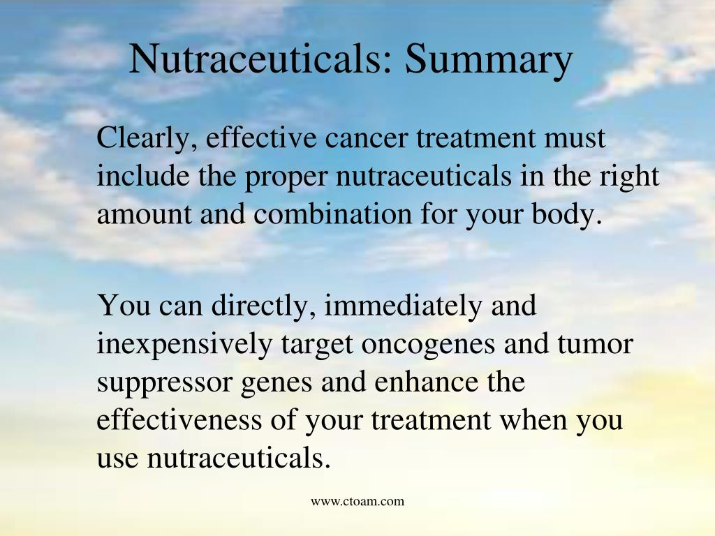 Nutraceuticals: Summary