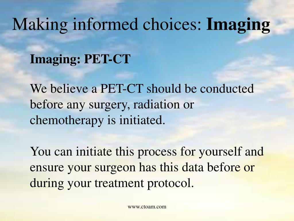 Making informed choices: