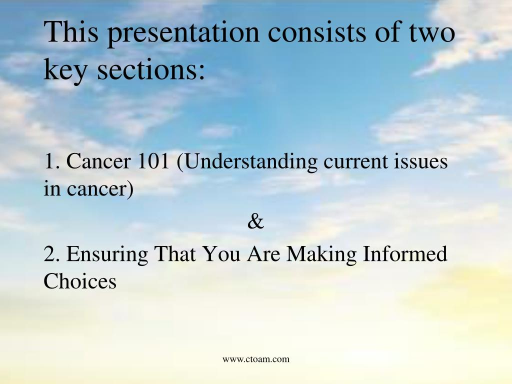 This presentation consists of two key sections: