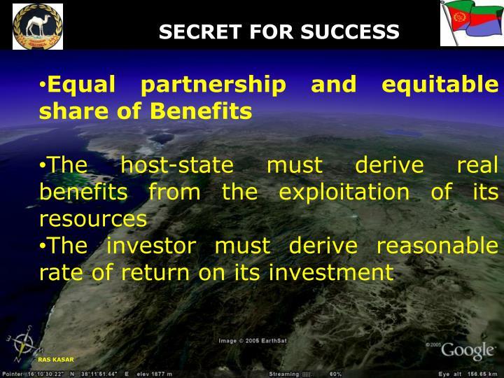 SECRET FOR SUCCESS
