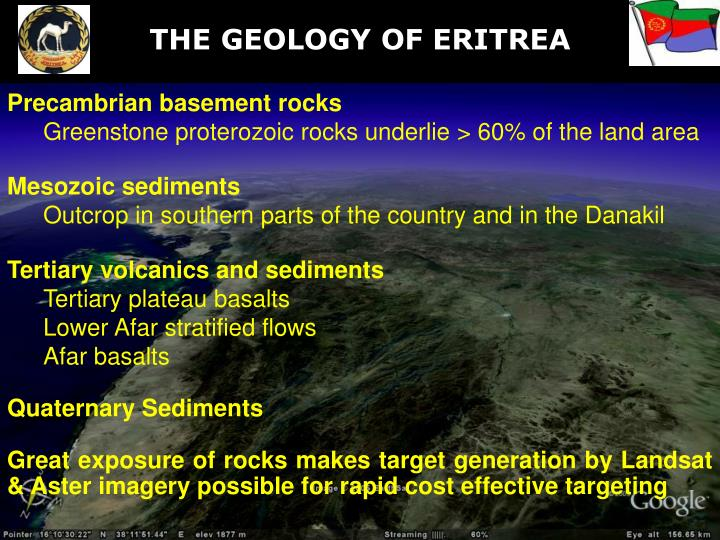 THE GEOLOGY OF ERITREA