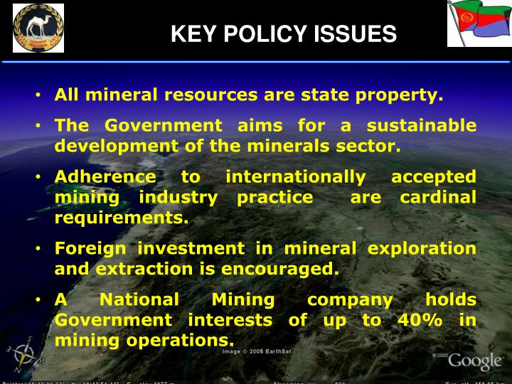 KEY POLICY ISSUES