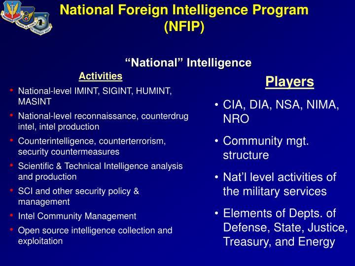 National Foreign Intelligence Program (NFIP)