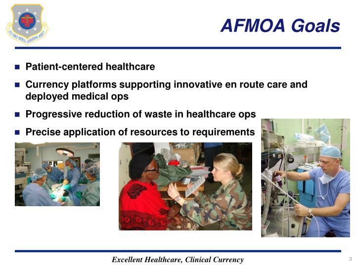 AFMOA Goals