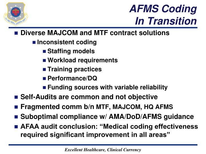 AFMS Coding