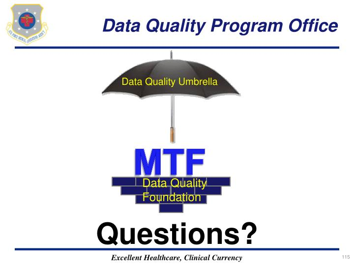Data Quality Program Office