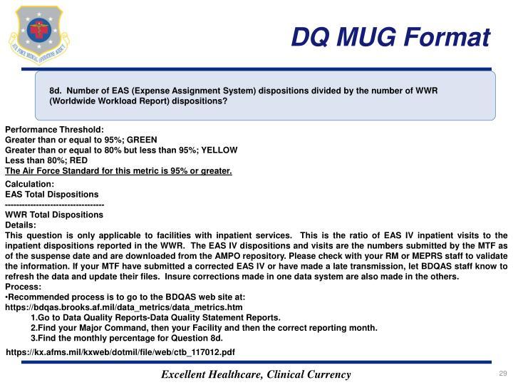DQ MUG Format