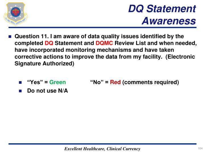 DQ Statement