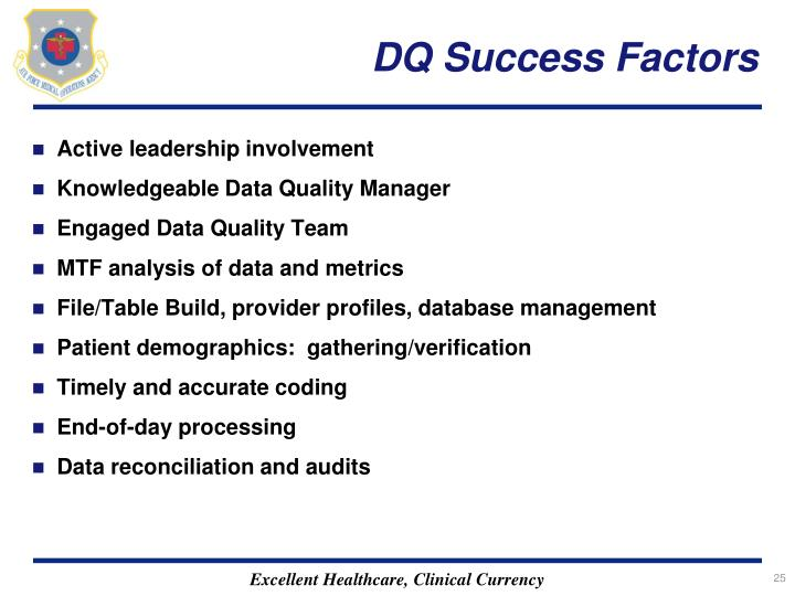 DQ Success Factors