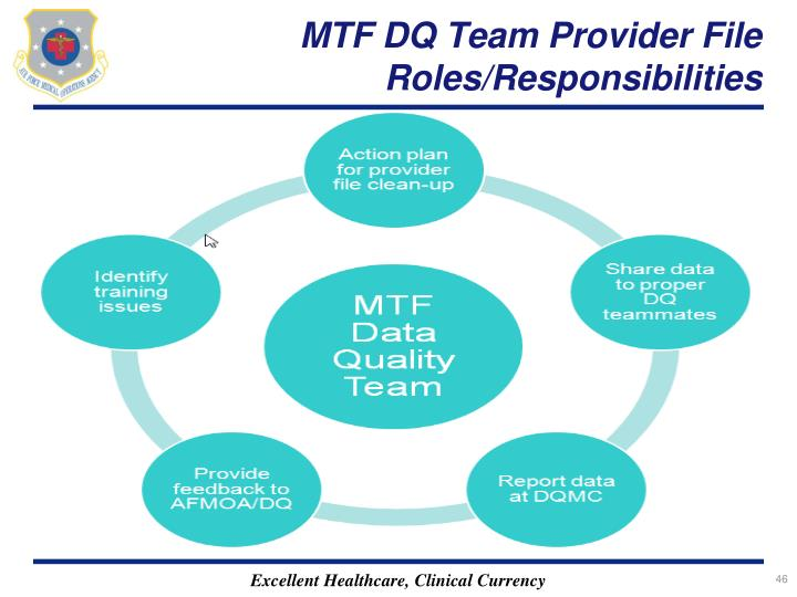 MTF DQ Team Provider File Roles/Responsibilities