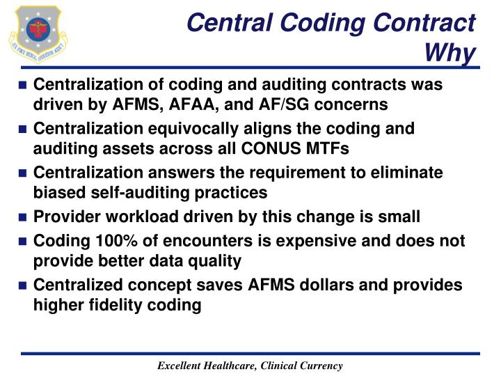 Central Coding Contract