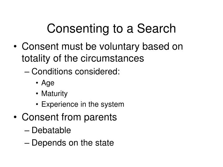 Consenting to a Search