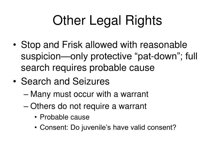 Other Legal Rights