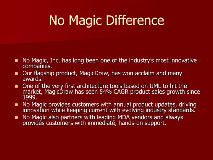 No magic difference
