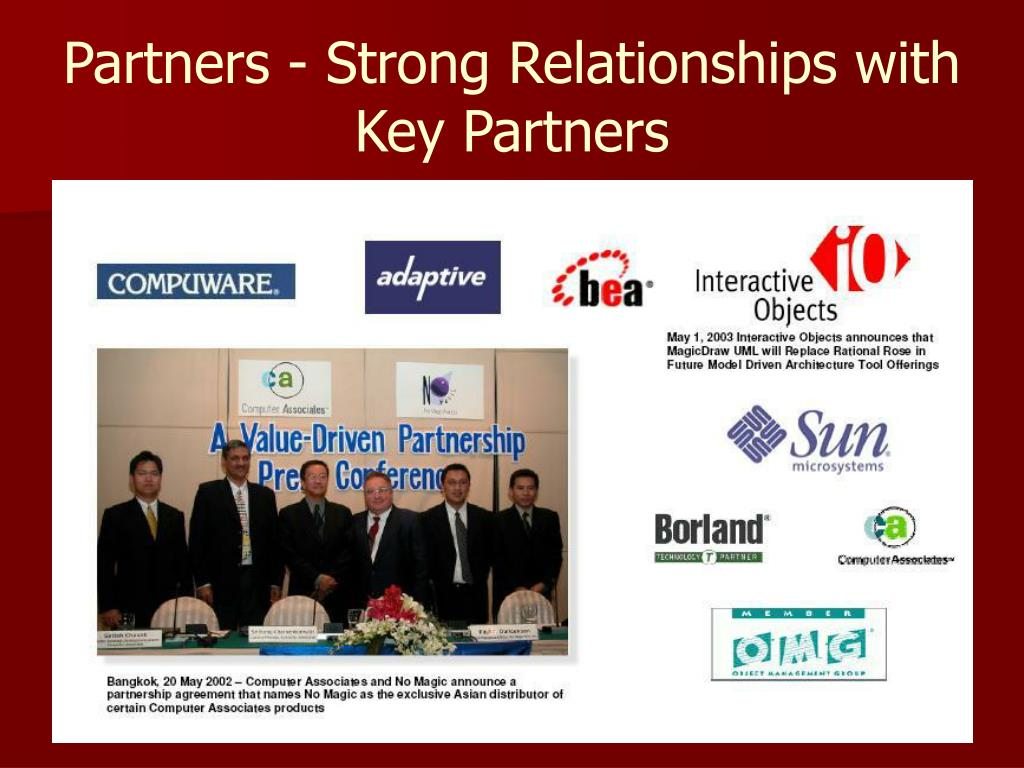 Partners - Strong Relationships with Key Partners