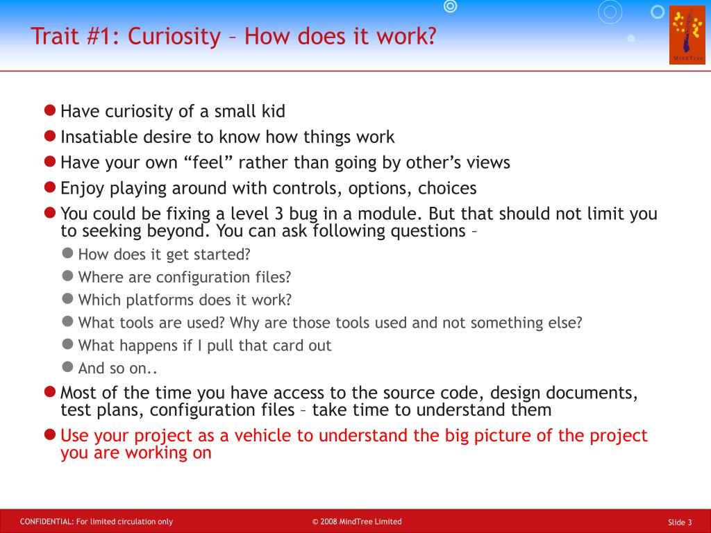 Trait #1: Curiosity – How does it work?