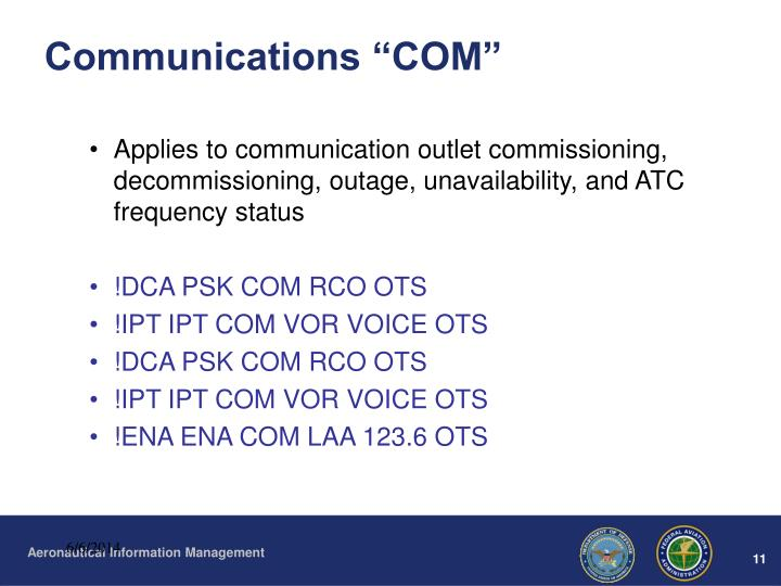 "Communications ""COM"""