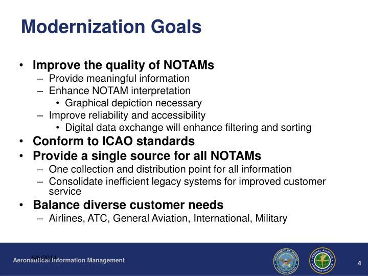 Modernization Goals