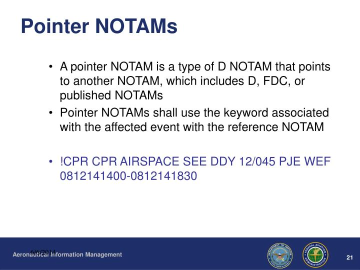 Pointer NOTAMs