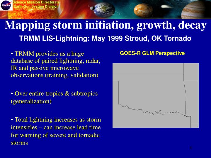 TRMM LIS-Lightning: May 1999 Stroud, OK Tornado