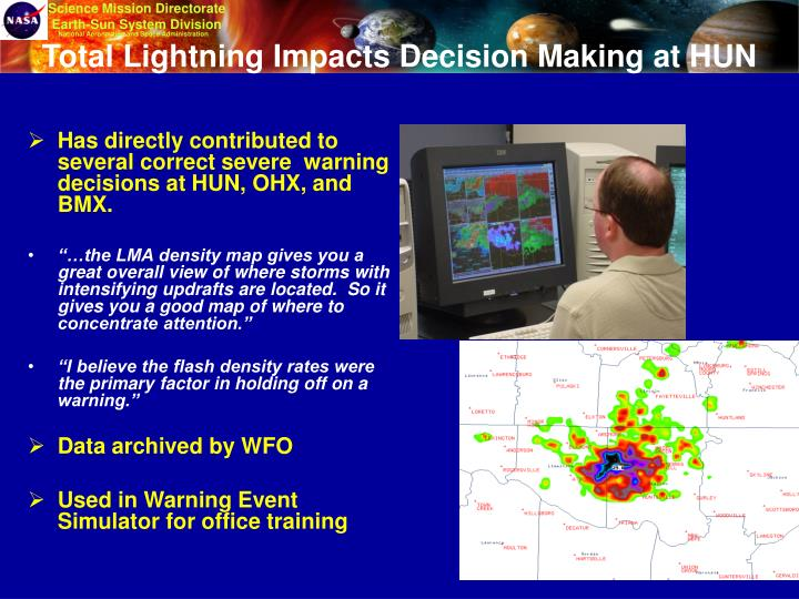 Total Lightning Impacts Decision Making at HUN
