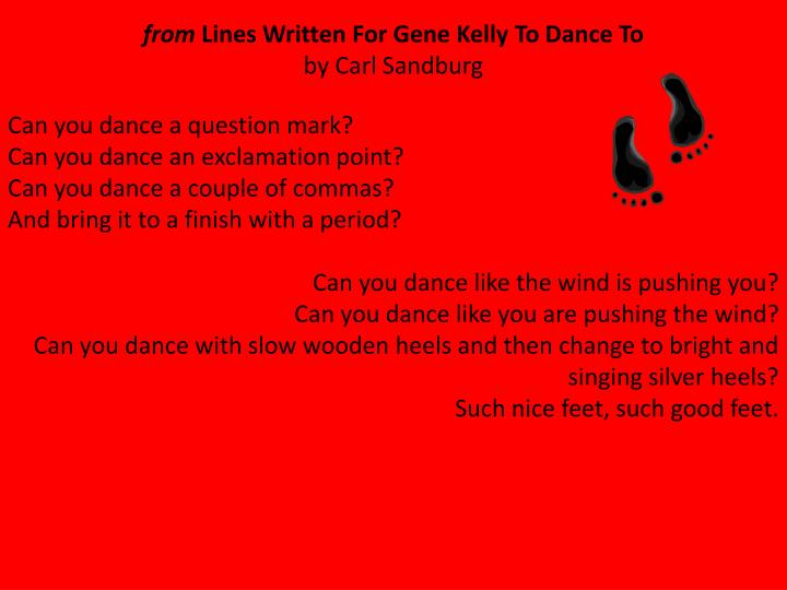 Can you dance a question mark?