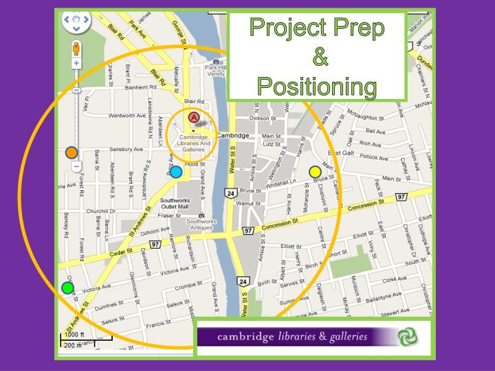 Project prep positioning
