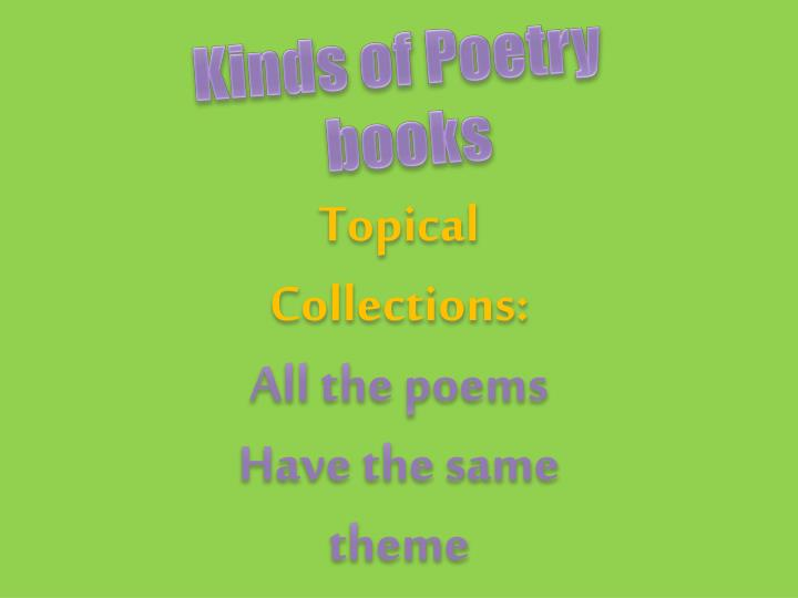 Kinds of Poetry