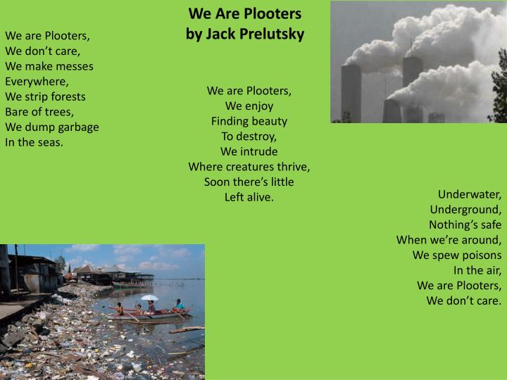 We are Plooters,