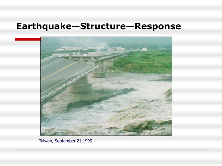 Traditional design procedure earthquake structure response